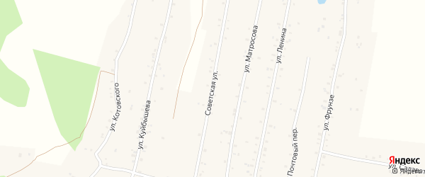 Советская улица на карте села Урмана с номерами домов