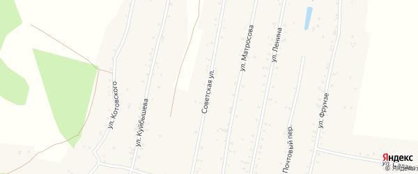 Советский переулок на карте села Урмана с номерами домов