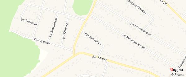 Восточная улица на карте села Караидели с номерами домов
