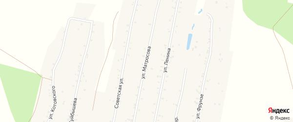 Улица Матросова на карте села Урмана с номерами домов