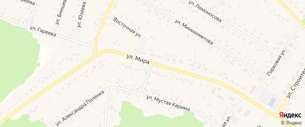 Улица Мира на карте села Караидели с номерами домов