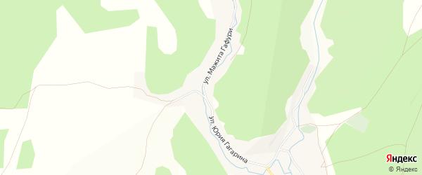 Карта деревни Старые Багазы в Башкортостане с улицами и номерами домов