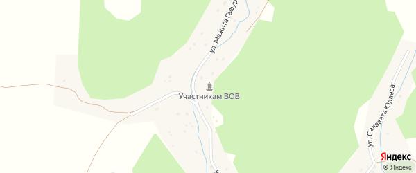 Улица Юрия Гагарина на карте деревни Старые Багазы с номерами домов