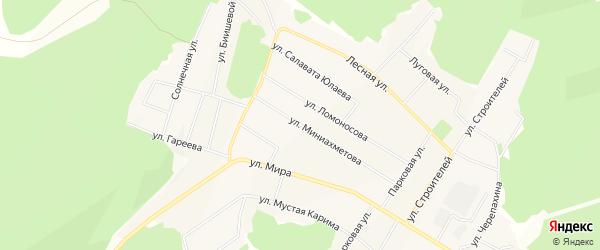 Карта села Караидели в Башкортостане с улицами и номерами домов