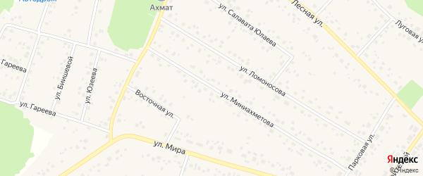 Улица Аксакова на карте села Караидели с номерами домов