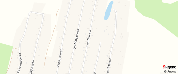 Улица Ленина на карте села Урмана с номерами домов