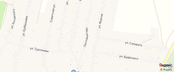 Почтовый переулок на карте села Урмана с номерами домов