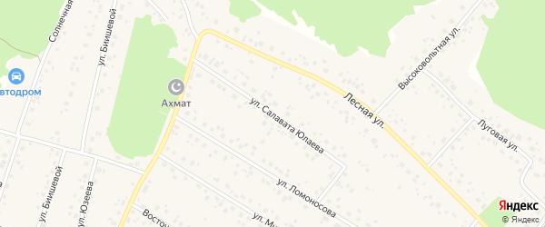 Улица Юлаева на карте села Караидели с номерами домов