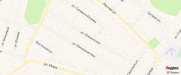 Улица Ломоносова на карте села Караидели с номерами домов