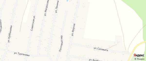 Улица Фрунзе на карте села Урмана с номерами домов