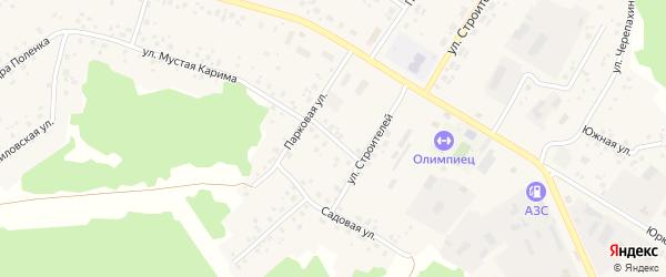 Школьная улица на карте села Караидели с номерами домов