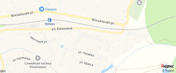 Улица Красных Партизан на карте села Урмана с номерами домов