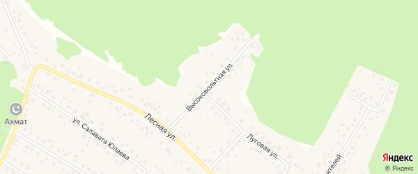 Высоковольтная улица на карте села Караидели с номерами домов