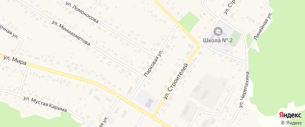 Парковая улица на карте села Караидели с номерами домов
