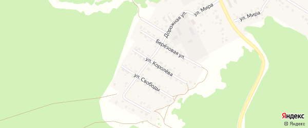 Улица Королёва на карте села Караидели с номерами домов