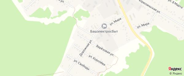 Дорожная улица на карте села Караидели с номерами домов