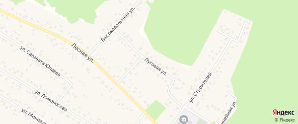 Луговая улица на карте села Караидели с номерами домов