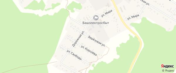 Березовая улица на карте села Караидели с номерами домов