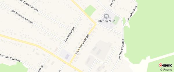 Улица Строителей на карте села Караидели с номерами домов