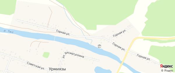 Горная улица на карте села Урмиязы с номерами домов