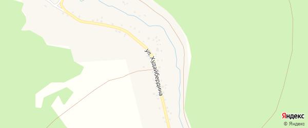 Улица Худайбердина на карте деревни Старые Багазы с номерами домов