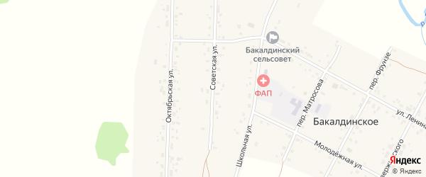 Советская улица на карте Бакалдинского села с номерами домов