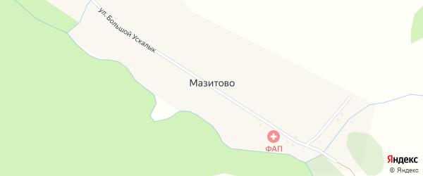 Центральная улица на карте деревни Мазитово с номерами домов