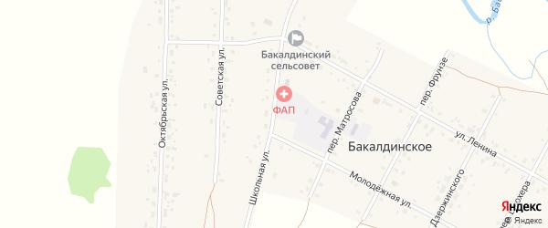 Школьная улица на карте Бакалдинского села с номерами домов