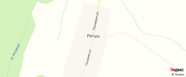 Полевая улица на карте деревни Рятуша с номерами домов
