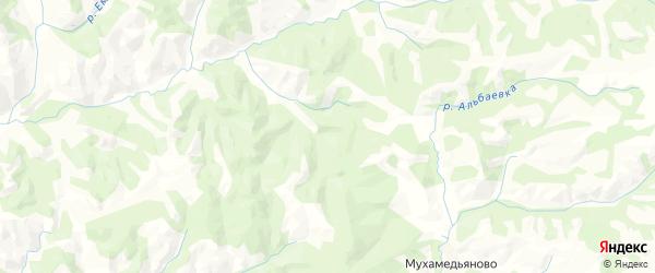 Карта Бикбауского сельсовета республики Башкортостан с районами, улицами и номерами домов