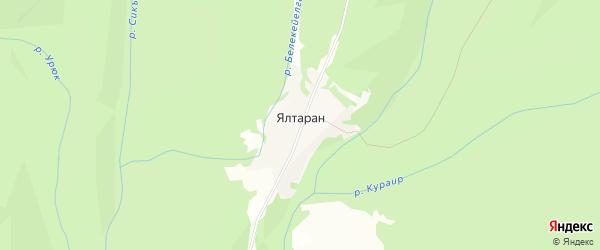 Карта деревни Ялтарана в Башкортостане с улицами и номерами домов