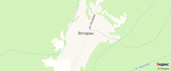 Улица Расаева на карте деревни Ялтарана с номерами домов