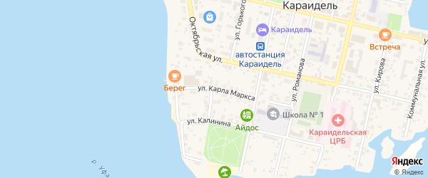 Улица Карла Маркса на карте села Караидели с номерами домов