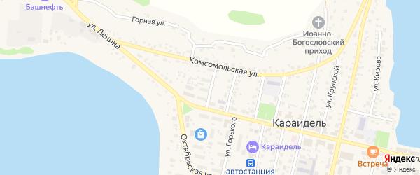 Улица Гагарина на карте села Караидели с номерами домов