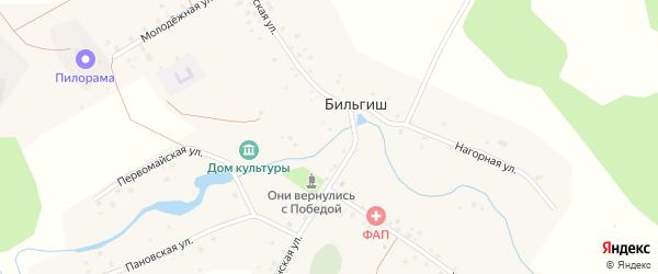 Нагорная улица на карте деревни Бильгиша с номерами домов