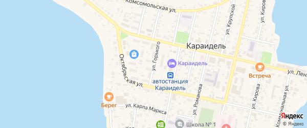 Улица Горького на карте села Караидели с номерами домов