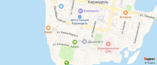 Первомайская улица на карте села Караидели с номерами домов