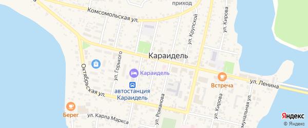 Советская улица на карте села Караидели с номерами домов