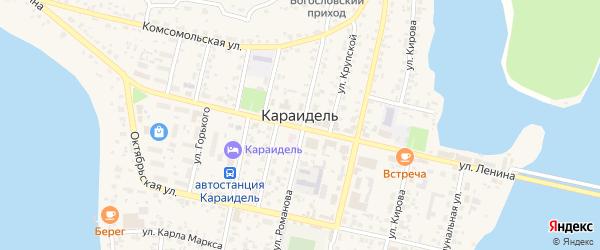 Солнечная улица на карте села Караидели с номерами домов