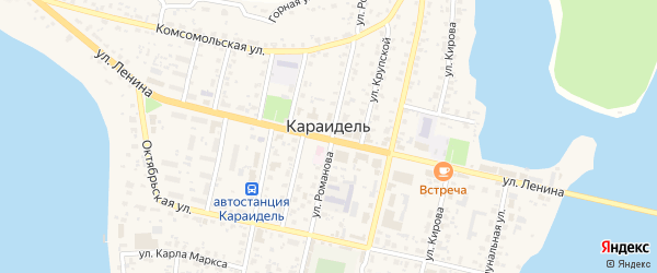 Северная улица на карте села Караидели с номерами домов