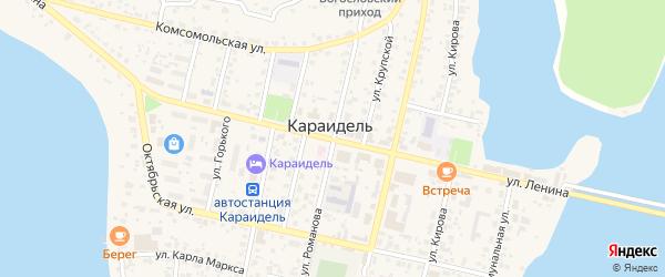 Улица Романова на карте села Караидели с номерами домов