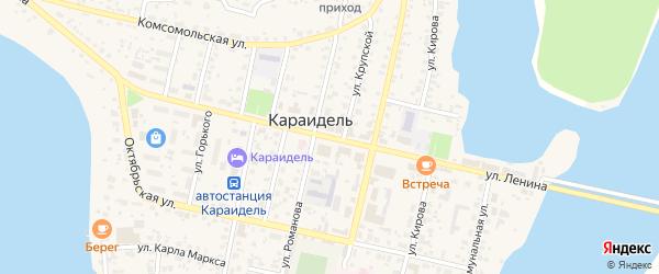 Улица Лежнина на карте села Абызово с номерами домов
