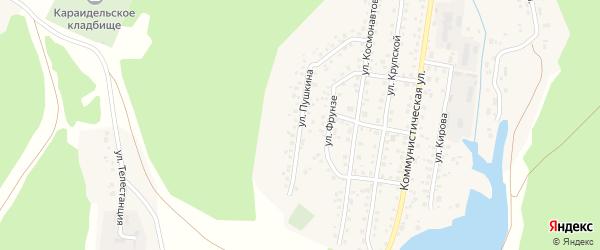 Улица Пушкина на карте села Караидели с номерами домов