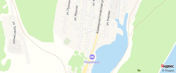 Улица Крупской на карте села Караидели с номерами домов