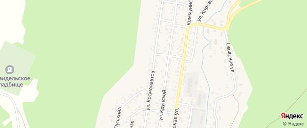 Улица Космонавтов на карте села Караидели с номерами домов
