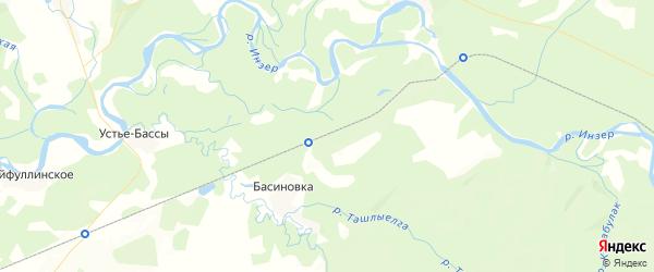 Карта Краснокуртовского сельсовета республики Башкортостан с районами, улицами и номерами домов