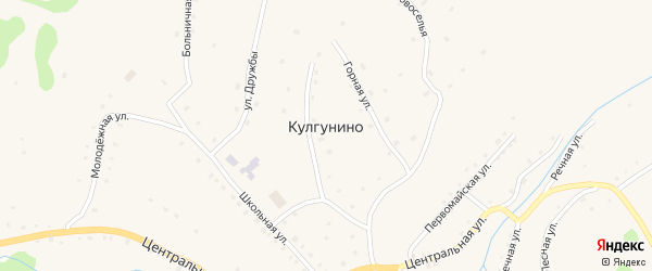 Новоселья улица на карте села Кулгунино с номерами домов