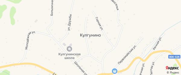 Школьная улица на карте села Кулгунино с номерами домов