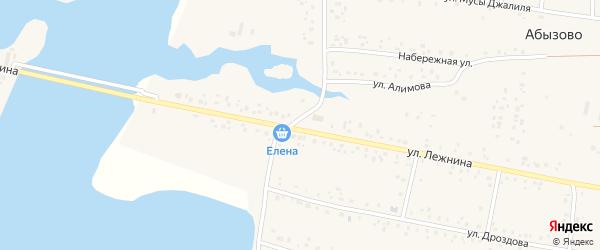 Уральская улица на карте села Абызово с номерами домов