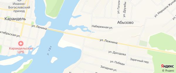 Карта села Абызово в Башкортостане с улицами и номерами домов